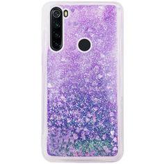 Акция на TPU чехол Liquid hearts для Samsung Galaxy A21 Фиолетовый от Allo UA