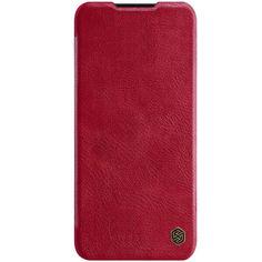 Акция на Кожаный чехол (книжка) Nillkin Qin Series для Huawei P40 Красный от Allo UA