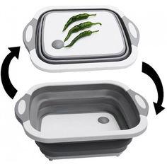 Акция на Складная разделочная доска для мытья и резки овощей 2 в 1 va2-86 от Allo UA