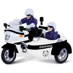 Акция на Масштабная модель Технопарк Мотоцикл охрана (свет, звук) (CT1247/2US) от Allo UA