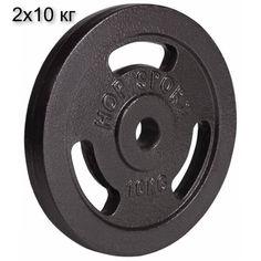 Акция на Сет из металлических дисков Hop-Sport Strong 2x10 кг от Allo UA