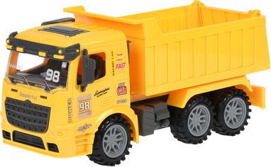 Акция на Машинка Same Toy Truck инерционная Самосвал Желтый (98-614Ut-1) от Rozetka
