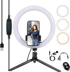 Акция на Набор блогера XoKo BS-300 + микрофон + пульт ДУ LED 26 см (BS-300+) от Rozetka
