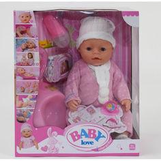 Акция на Пупс функциональный кукла игрушка BL 020 С 8 функций, с аксессуарами, в коробке от Allo UA