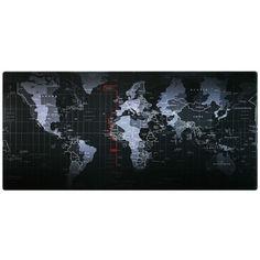 Акция на Игровая поверхность, большой коврик для мышки игровой 70х30см Карта Мира от Allo UA