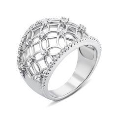 Акция на Серебряное кольцо с фианитами 000136089 18 размера от Zlato