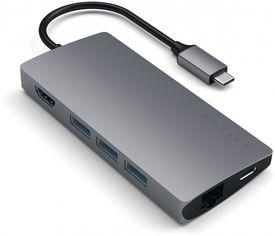 Акция на USB-хаб Satechi Type-C Multi-Port Adapter 4K with Ethernet V2 Space Gray (ST-TCMA2M) от Rozetka
