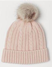 Акция на Зимняя шапка H&M 2310-6919969 49 см Пудровая (hm07375089000) от Rozetka