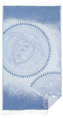 Акция на Пляжное полотенце SoundSleep Bali Жаккард 100х180 см Голубое (653590748779) от Rozetka