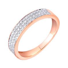 Акция на Кольцо в красном золоте с бриллиантами 000117624 18 размера от Zlato