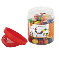 Акция на Шнуровка Viga Toys 'Бусинки', 90 шт. (58304) от Allo UA