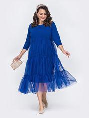 Акция на Платье Dressa 52119 50-52 Синее (2000405684155_D) от Rozetka