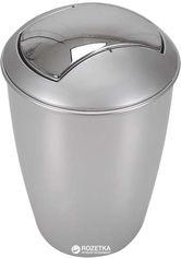 Акция на Ведро для мусора Spirella Atlanta 30x19 см Серебристое (10.04265) от Rozetka