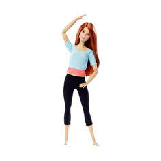 Акция на Шарнирная Кукла Барби Рыжеволосая с веснушками из серии Безграничные Движения Йога - Made to Move Barbie Doll от Allo UA