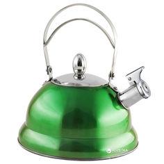 Акция на Чайник Lora NS11KET со свистком 3 л Зеленый (H11-006) от Rozetka