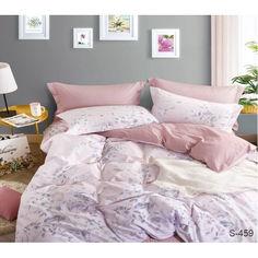 Акция на Комплект постельного белья ТМ TAG семейный Сатин 100% хлопок с компаньоном S459 от Allo UA