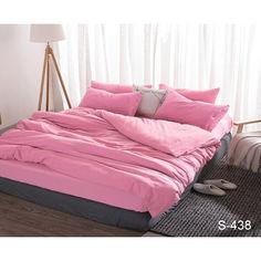Акция на Комплект постельного белья ТМ TAG Евро Сатин люкс 100% хлопок Розовый S438 от Allo UA