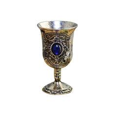 Акция на Бокал BauTech Кубок для вина с камнем латунный Синий (1007-537-00) от Allo UA