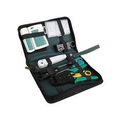 Акция на Профессиональный набор инструментов BauTech 11 в 1 для наладки и ремонта компьютерных и телекоммуникационных сетей (1004-149-00) от Allo UA