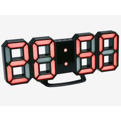 Акция на 3D часы Digoo С будильником Светодиодные Черный корпус Красный (1004-584-08) от Allo UA