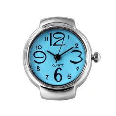 Акция на Часы кольцо Genboli Кварцевые Синий (1006-007-01) от Allo UA