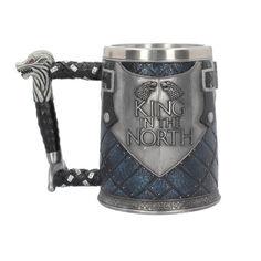 Акция на Кружка Knight Cup Король Севера 3D Игра престолов 600 мл Синий (1008-145-00) от Allo UA