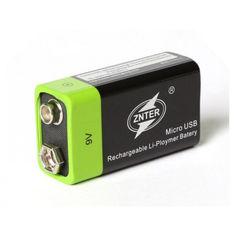 Акция на Аккумуляторная батарея ZNTER USB 9В Крона Lipo S19 400mah (1003-248-00) от Allo UA