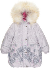 Зимнее пальто Lenne Estella 19334/2540 134 см Бежевое с серым (4741578395100) от Rozetka
