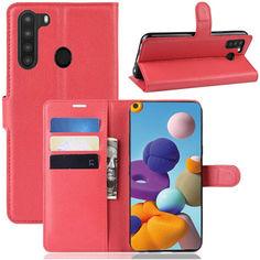Акция на Чехол-книжка Litchie Wallet для Samsung Galaxy A21 A215 Red от Allo UA