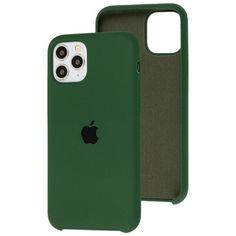 Акция на Чехол Silicone Case для Apple iPhone 11 Pro Max Atrovirens Green от Allo UA