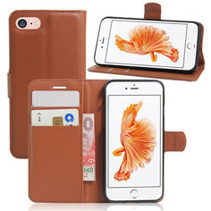 Акция на Чехол-книжка Litchie Wallet для Apple iPhone 6 Plus / iPhone 6S Plus Brown от Allo UA