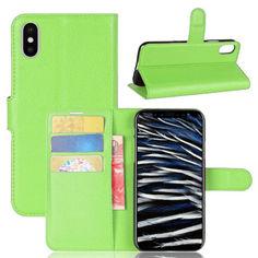 Акция на Чехол-книжка Litchie Wallet для Apple iPhone XS Max Green от Allo UA