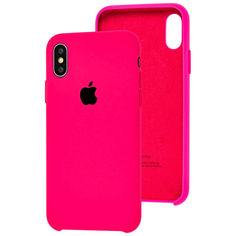Акция на Чехол Silicone Case для Apple iPhone X / Xs Shiny Pink от Allo UA