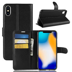 Акция на Чехол-книжка Litchie Wallet для Apple iPhone X / iPhone XS Черный от Allo UA
