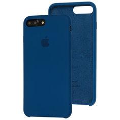 Акция на Чехол Silicone Case для Apple iPhone 7 Plus / 8 Plus Blue Cobalt от Allo UA
