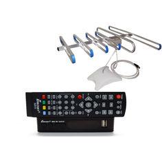 Акция на Комплект Т2-телевидения: тюнер DVB-T2 с функциями медиаплеера и IPTV/WebTV-плеера Eurosky ES-15+ антенна для Т2 комнатная SUPERАнтенна от Allo UA