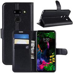 Акция на Чехол-книжка Litchie Wallet для LG G8 ThinQ Black от Allo UA