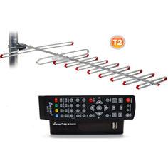 Акция на Комплект Т2-телевидения: тюнер DVB-T2 с функциями медиаплеера и IPTV/WebTV-плеера Eurosky ES-15+ Внешняя ТВ антенна Eurosky Фаворит/Favorit с усилителем ( прием сигнала до 55 км от ретранслятора) от Allo UA