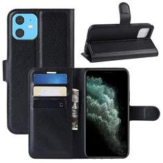 Акция на Чехол-книжка Litchie Wallet для Apple iPhone 11 Black от Allo UA