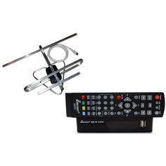 Акция на Комплект Т2-телевидения: тюнер DVB-T2 с функциями медиаплеера и IPTV/WebTV-плеера Eurosky ES-15+ антенна для Т2 комнатная Улучшенная от Allo UA