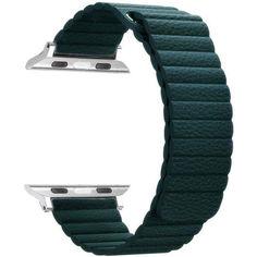 Акция на Ремешок ArmorStandart для смарт-часов Apple Watch ALL Series 42mm/44mm Leather Loop Band Forest Green (ARM53319) от Allo UA