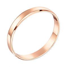 Акция на Обручальное кольцо из красного золота 000103671 16 размера от Zlato