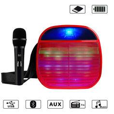 Акция на Набор Bluetooth портативная колонка с микрофоном YS-A25 Красный от Allo UA