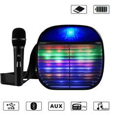 Акция на Набор Bluetooth портативная колонка с микрофоном YS-A25 Черный от Allo UA