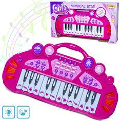 Акция на Детское пианино со встроенными мелодиями и звуками животных ENJOY Musical Star + световые эффекты Розовый от Allo UA