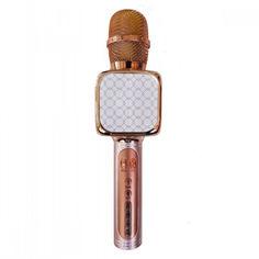 Акция на Беспроводной микрофон для караоке + колонка 2в1 - Bluetooth Magic Karaoke YS-69-R с динамиками 2 х 3Вт, трехуровневым подавлением шума, функцией фонограммы, смена голоса и эхо (Rose) от Allo UA