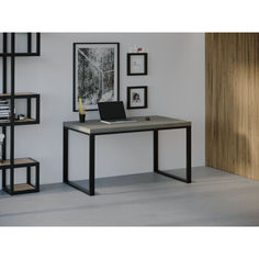 Акция на Компьютерный стол Skandi Wood SW036 Айдахо 180 х 80 х 75 см МДФ+Шпон Дуб Темно-Cерый (SW03618875DaOMDF) от Allo UA