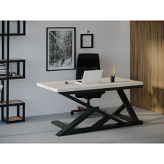 Акция на Компьютерный стол Skandi Wood SW117 Техас 140 х 80 х 75 см МДФ+Шпон Дуб Белый (SW11714875WhOMDF) от Allo UA