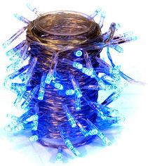 Акция на Светодиодная гирлянда Маг2000 мерцающая 100 ламп 11 м Синий (5102681040452) от Rozetka
