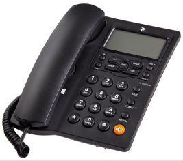 Акция на Телефон шнуровой 2E AP-410 Black от MOYO